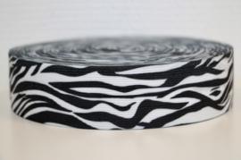 Zebra elastiek 40 mm per 0,5 meter