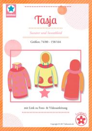 Farbenmix naaipatroon Tasja Sweater - sweaterjurk maat 74 - 164
