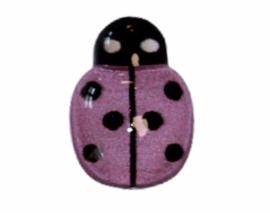 Flatback lieveheersbeestje klein lila 14x10mm