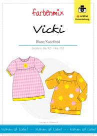 Farbenmix papier patroon bloesje/jurkje Vicki 86/92 - 146/152