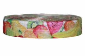 Elastisch band delicious fruits per 0,5 meter