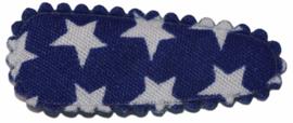 kniphoesje katoen kobaltblauw met witte sterretjes 3 cm
