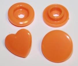 Kam snap HART oranje glanzend per 5 stuks