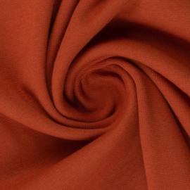 Boordstof: terracotta (Swafing kleur 712) Rondgebreid 48 cm. Per 25 cm