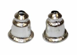 Oorbellen knopjes zilverkleur, per paar