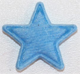 Applicatie ster vilt mini 15mm lichtblauw, per 5