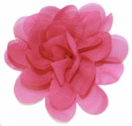 Stoffen bloem 5 cm fuchsiaroze