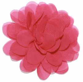 Stoffen bloem 7 cm fuchsiaroze