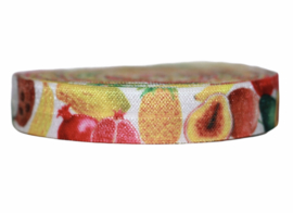 Elastisch band exotic fruits per 0,5 meter