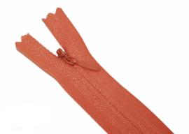 Blinde rits 35cm oranje