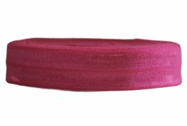 Elastisch biaisband/vouwtres fuchsia roze 20 mm per 0,5 meter