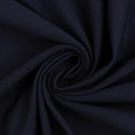Brushed joggingstof: donkerblauw (Swafing kleur 599), per 25 cm