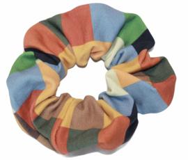 Scrunchie gekleurde blokjes