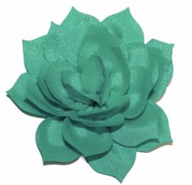 Chiffon lotus bloem 8 cm mint
