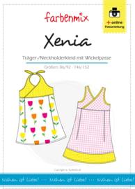 Farbenmix papier patroon jurkje Xenia  86/92 -146/152
