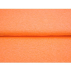 Neon oranje tricot gemeleerd, per 25 cm