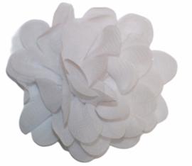 Stoffen bloem 7 cm wit
