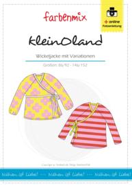 Farbenmix papier patroon kleinOland wikkelvest 86/92 - 146/152