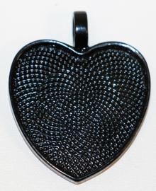Hart setting zwart 25 mm