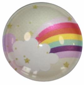 Glascabochon 20mm rainbow