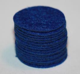 Rond viltje kobaltblauw 25mm, per stuk
