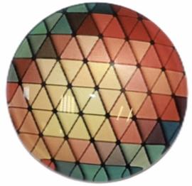 Glas cabochon 25mm: graphic autumn