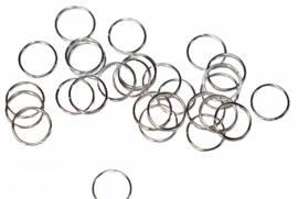 Ringetjes zilverkleur 10 mm met opening, per 10 stuks
