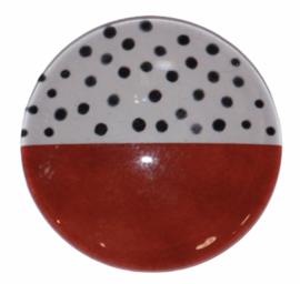 Glas cabochon 25mm: Geometric pattern