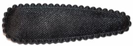 kniphoesje satijn effen zwart 5 cm