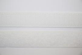 Klittenband 20 mm wit per 0,5 meter