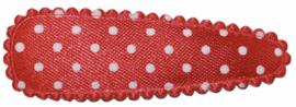 kniphoesje satijn rood met witte stip 5 cm