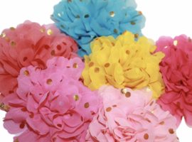 Stoffen bloem 10 -12 cm