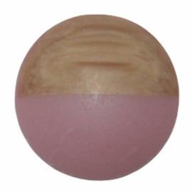 Cabochon hout-look dip oudroze, 20 mm