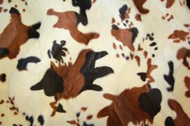 Nep-vacht koe: bruin/ off-white, per 25 cm