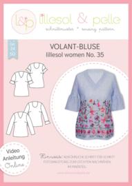 Lillesol & Pelle women blouse met volant maat 34 t/m 50