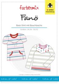Farbenmix papier naaipatroon damesshirt Fano  34/36 - 50/52