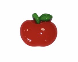 Flatback rode appel 15x11 mm, per stuk