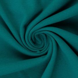 Boordstof. Petrol (Swafing kleur 750) Rondgebreid 48 cm. Per 25 cm