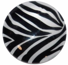 Glas cabochon 25mm: Zebra print