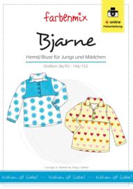 Farbenmix papier patroon overhemd Bjarne  86/92 -146/152