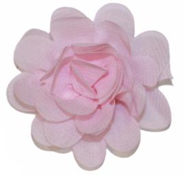Stoffen bloem 5 cm lichtroze