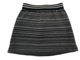 Kerstrokje zwart zilver maat 74-140