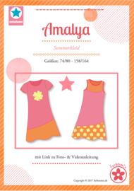Farbenmix papier patroon Amalya Maat74/80 - 158/164
