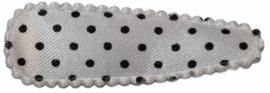 kniphoesje satijn wit met zwarte stip 5 cm