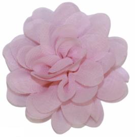 Stoffen bloem 7 cm babyroze