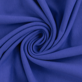 French terry tricot: Royal blue (Swafing kleur 255), 104x 150 cm coupon