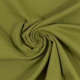 Boordstof: mosgroen (Swafing kleur 604) Rondgebreid 48 cm. Per 25 cm