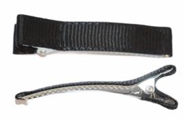 Alligator haarclipje 10x50 mm zwart, per stuk