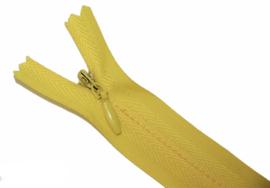Blinde rits 25 cm geel