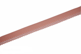 Elastisch kantje zalmroze 11 mm, per 0,5m